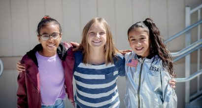 Colorado SKIES Academy three students smiling