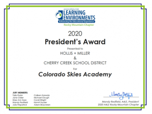 Colorado SKIES Academy 2020 President's Award Learning Environments