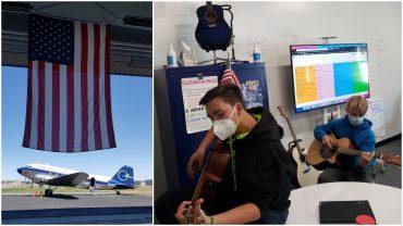 Colorado SKIES Academy learners play guitar