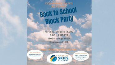 Colorado SKIES Academy block party 2021