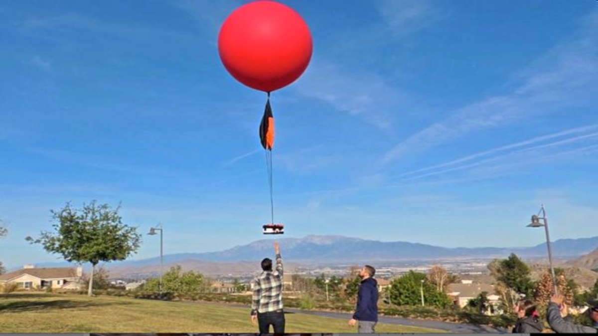 Weather Balloon Launch Colorado Skies Academy